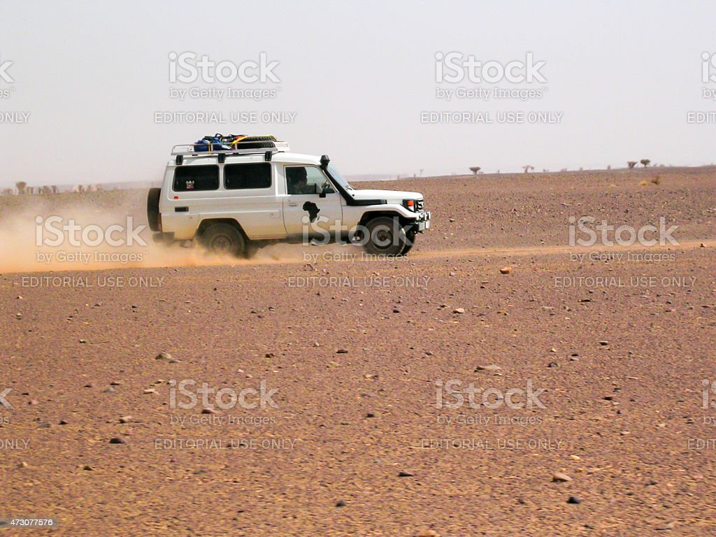 Trip to Morocco in off road stock photo