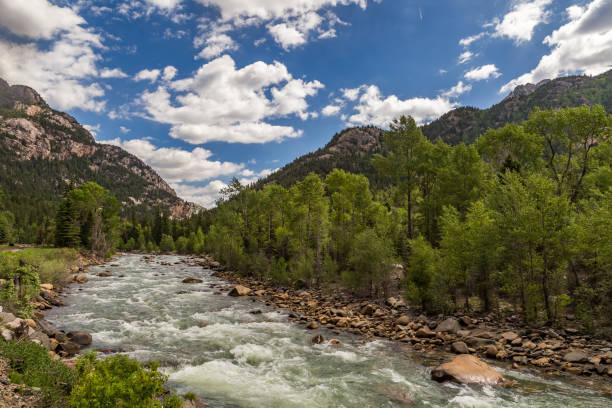 A trip up the Animas River stock photo