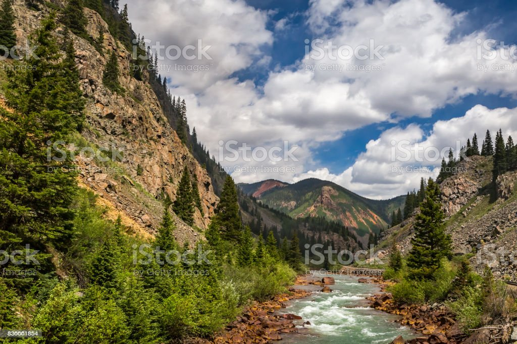 A trip up the Animas River royalty-free stock photo