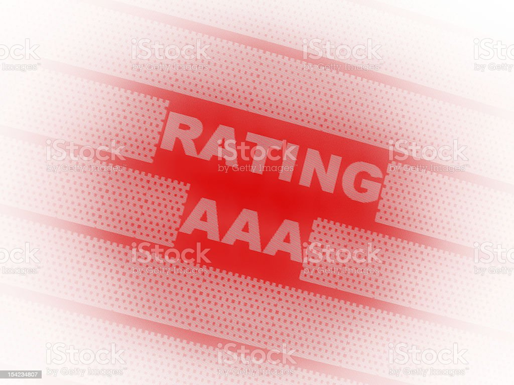 triple A, cedit rating royalty-free stock photo