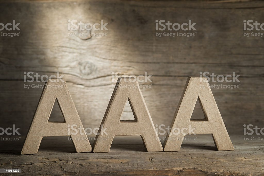 Triple A, Rating royalty-free stock photo