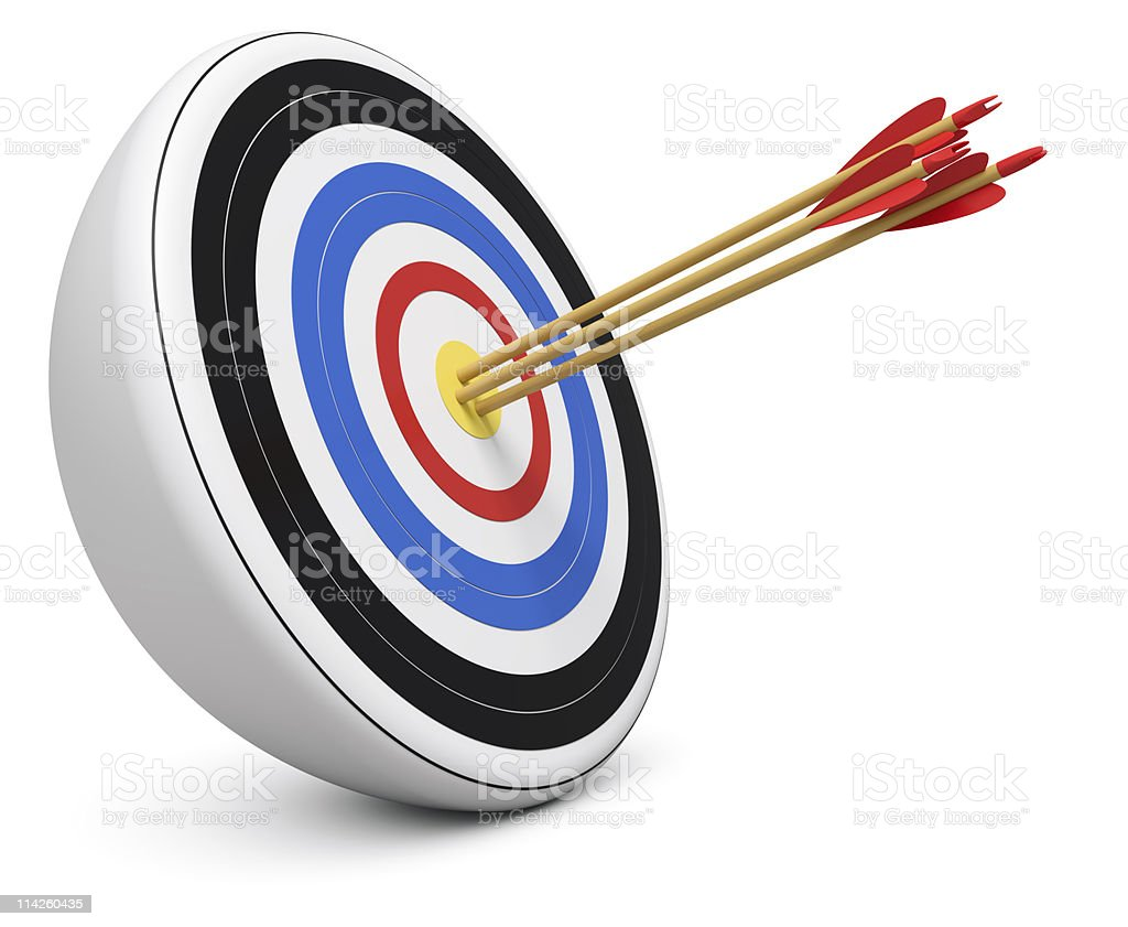 Triple Bull's-Eye royalty-free stock photo