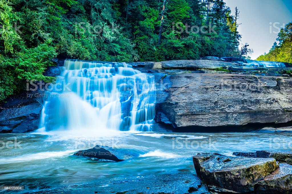 Triple Falls at Dupont State Recreational Forest Park stock photo