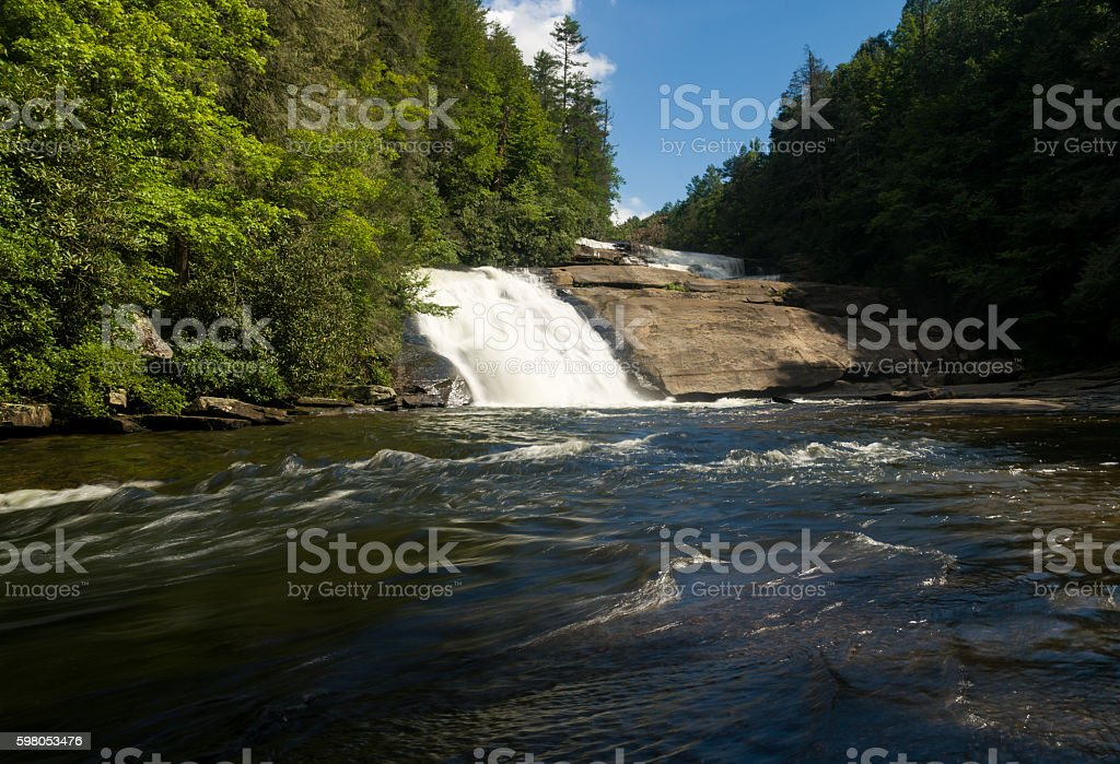 Triple Falls in Dupont State Forest North Carolina stock photo