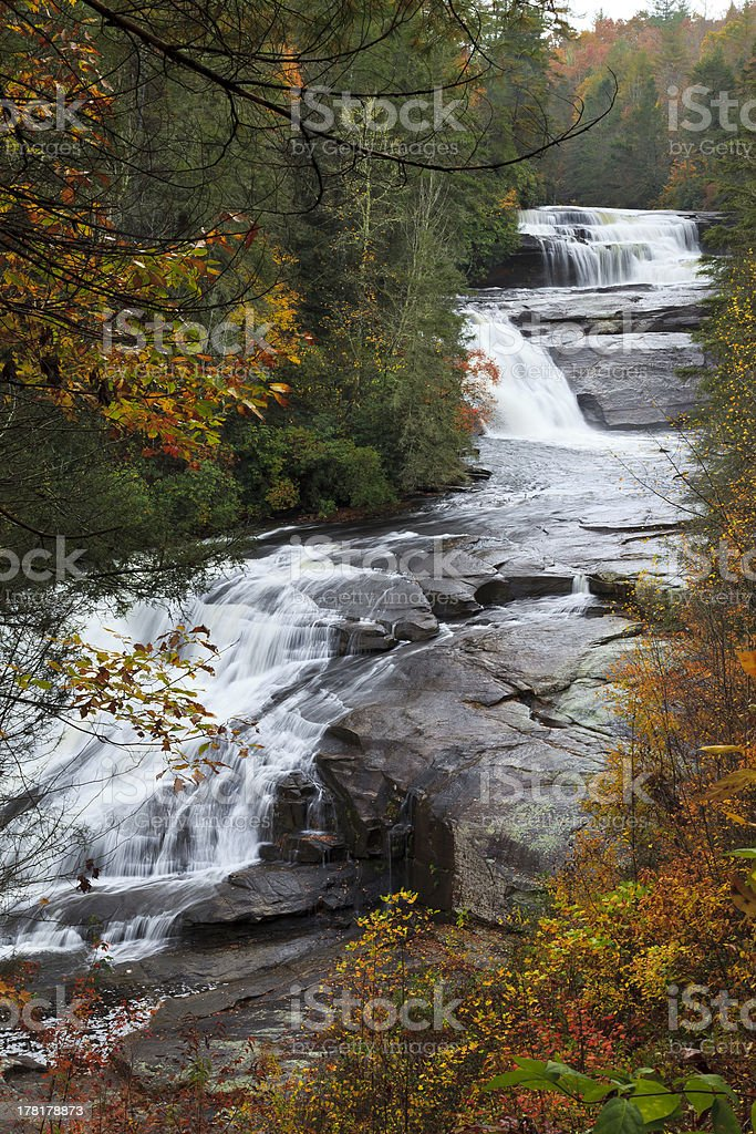 Triple Falls in the Dupont State Forest stock photo