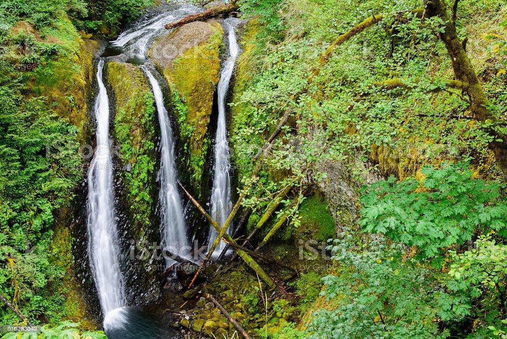 XXXL: Triple Falls, Oregon stock photo