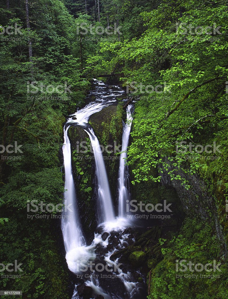 Triple Falls royalty-free stock photo