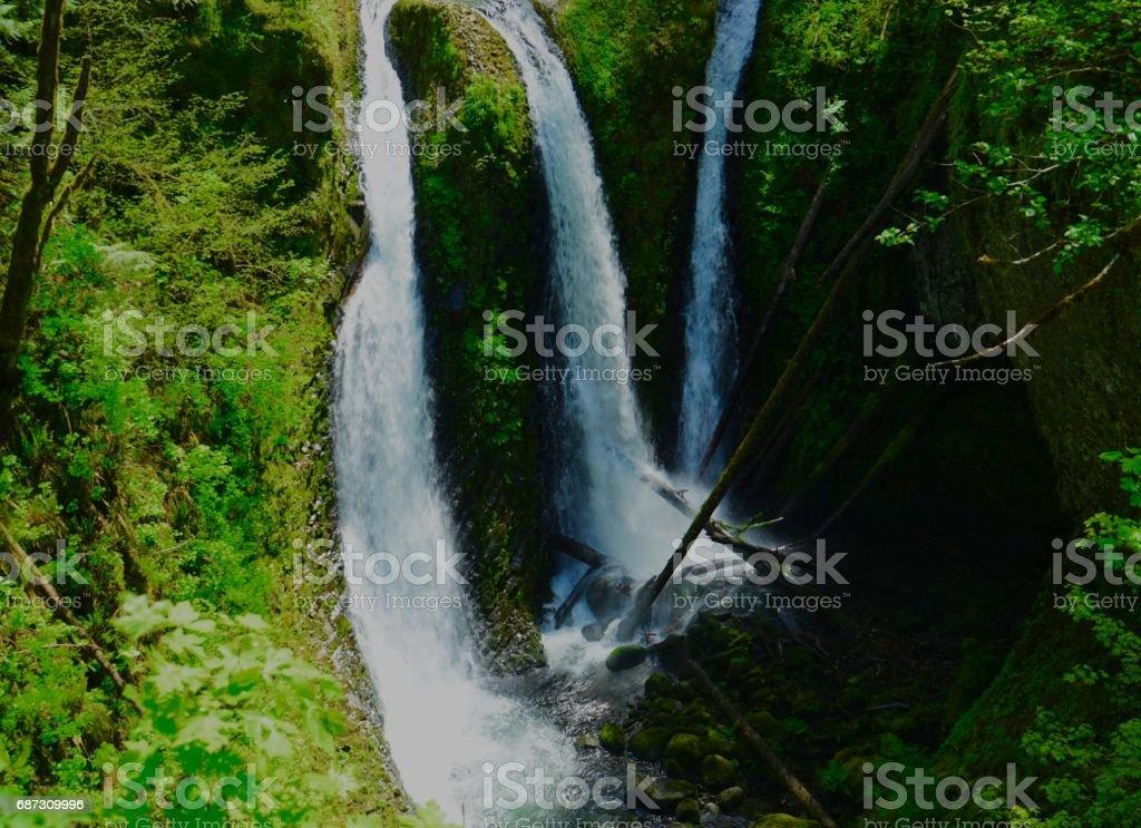 Triple Falls Sublime stock photo