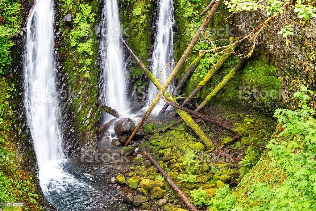 Triple Falls View in Oregon stock photo