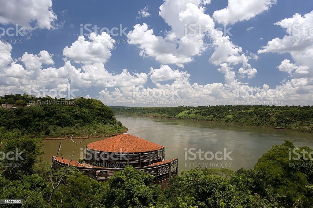 Triple frontier - Brazil, Argentina and Paraguay royalty-free stock photo