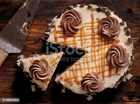 Triple Layer Chocolate Caramel Cake  -Photographed on Hasselblad H3D2-39mb Camera