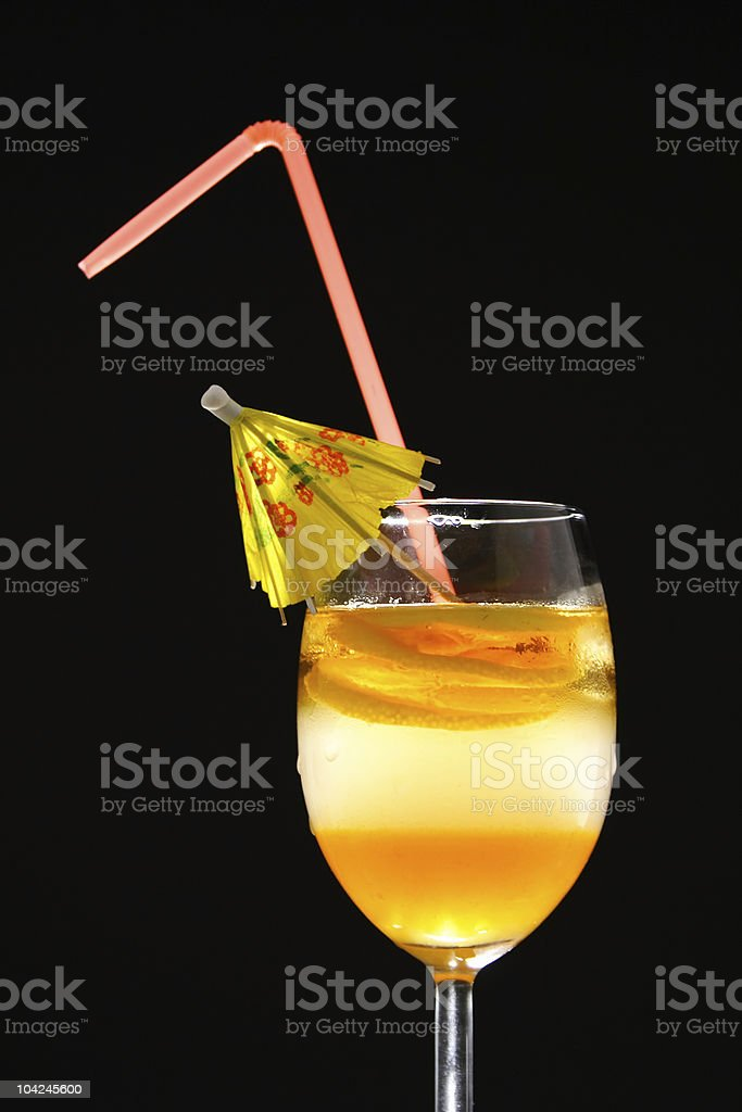 Triple layered drink royalty-free stock photo