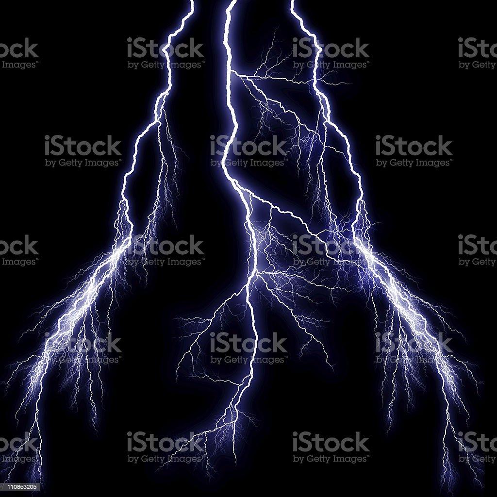 Triple Lightning Strike stock photo