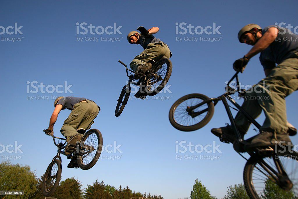 BMX triple royalty-free stock photo
