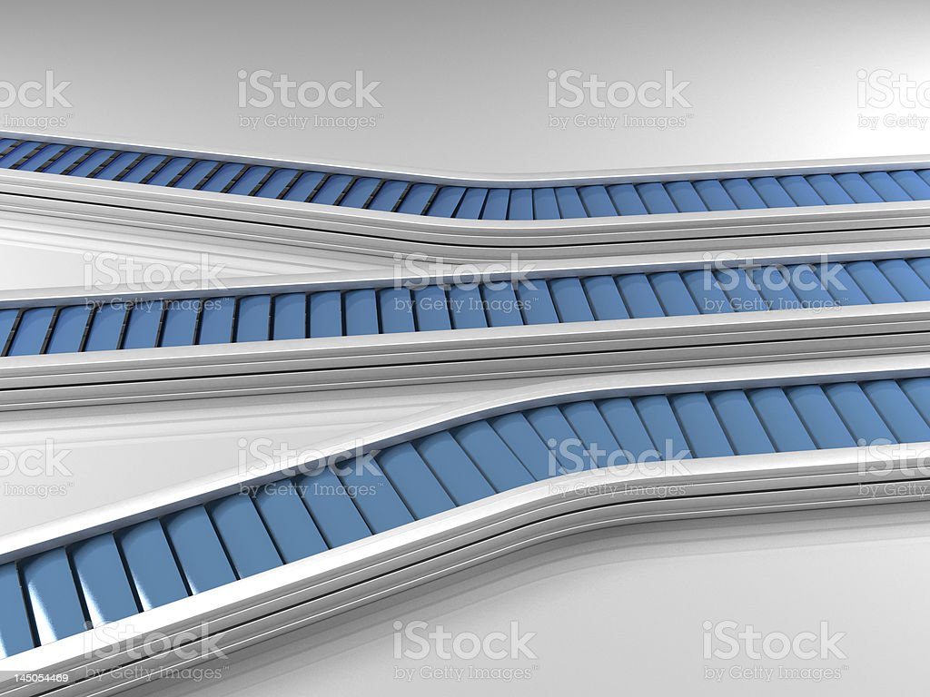 Triple row production line royalty-free stock photo