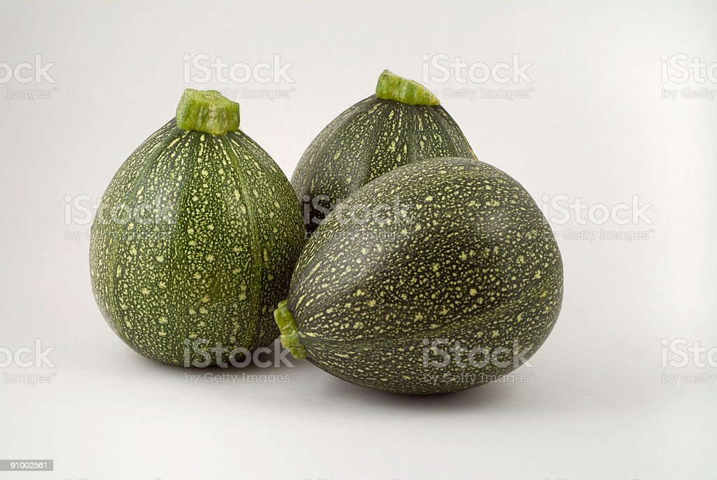 Triple Courgettes royalty-free stock photo