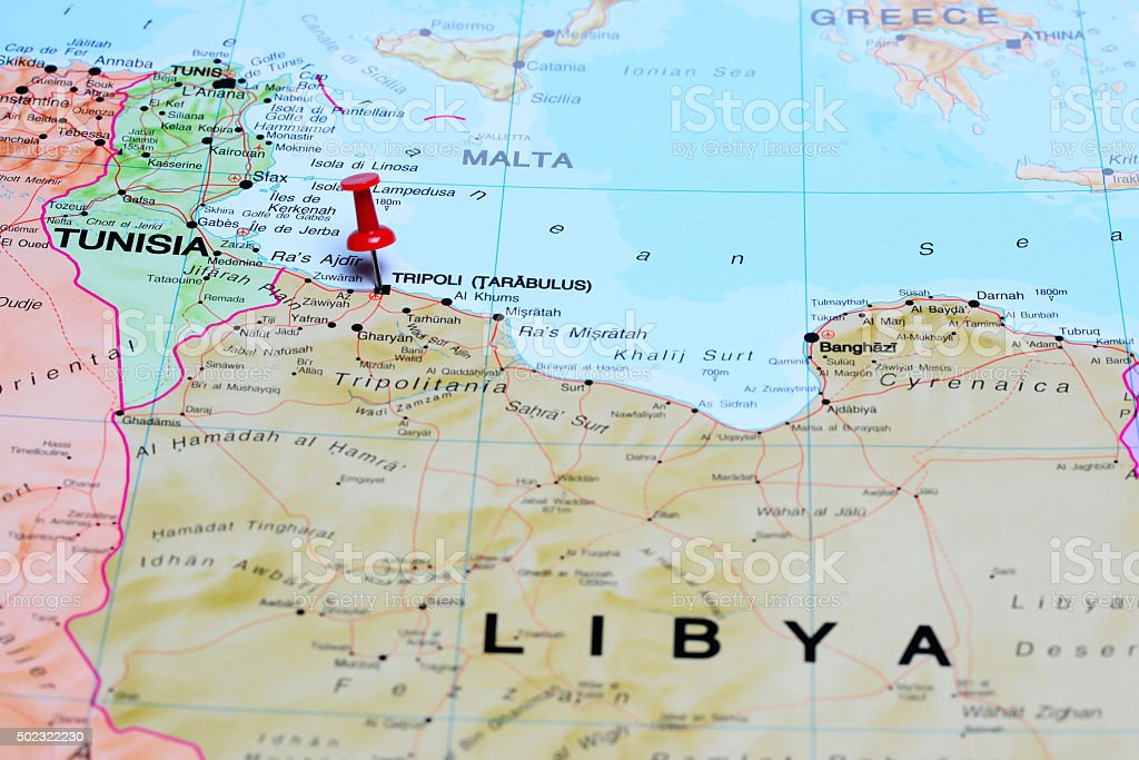 Tripoli pinned on a map of africa stock photo more pictures of tripoli pinned on a map of africa royalty free stock photo publicscrutiny Image collections