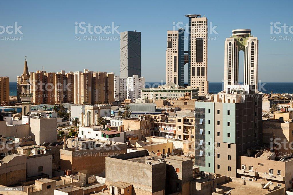 Tripoli skyline, Libya royalty-free stock photo