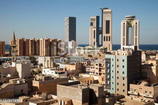 Libya capital Tripoli skyline view