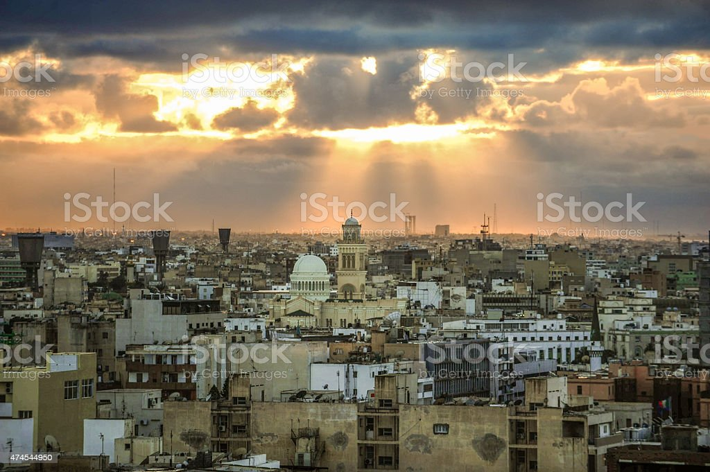 Tripoli skyline, Libya stock photo