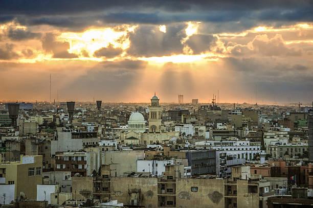 Tripoli skyline, Libya stock photo