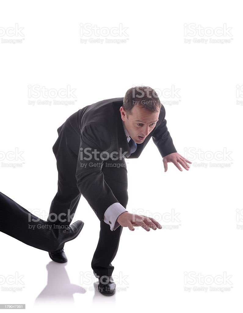 Tripped up stock photo