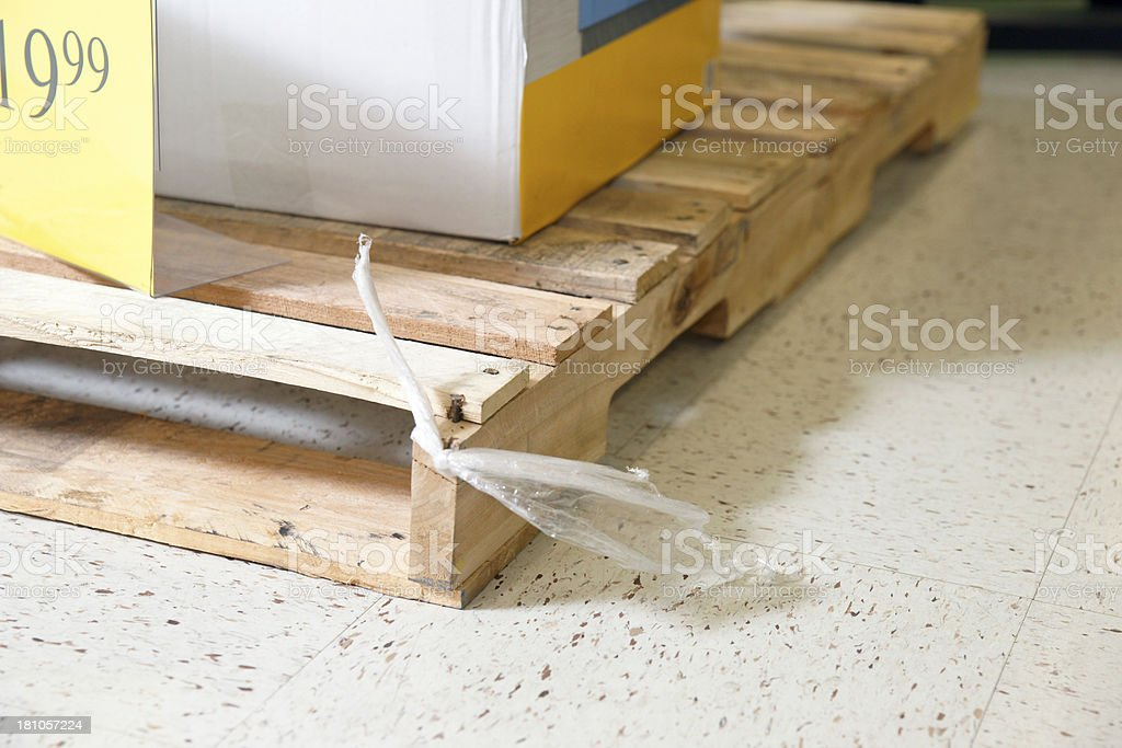 Tripping hazard in a retail store royalty-free stock photo