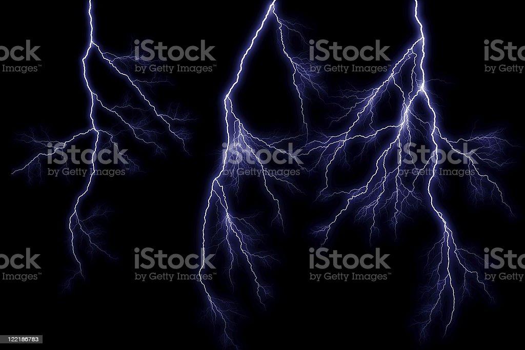 Tripple Lightning Strike stock photo