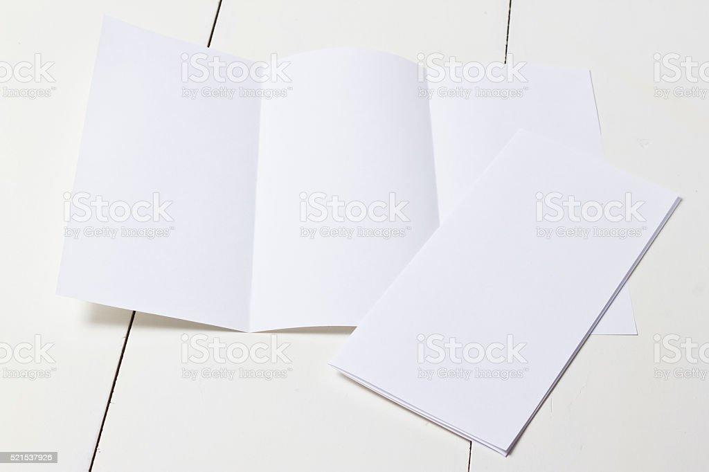 Tríptico plantilla - foto de stock