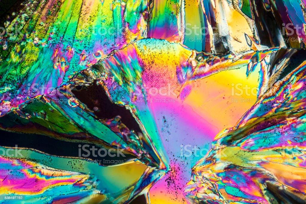 Trisodium citrate microcrystals stock photo