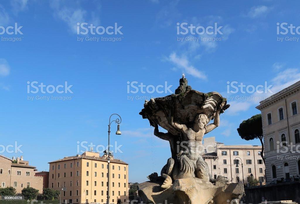 Fontana del Tritone stock photo
