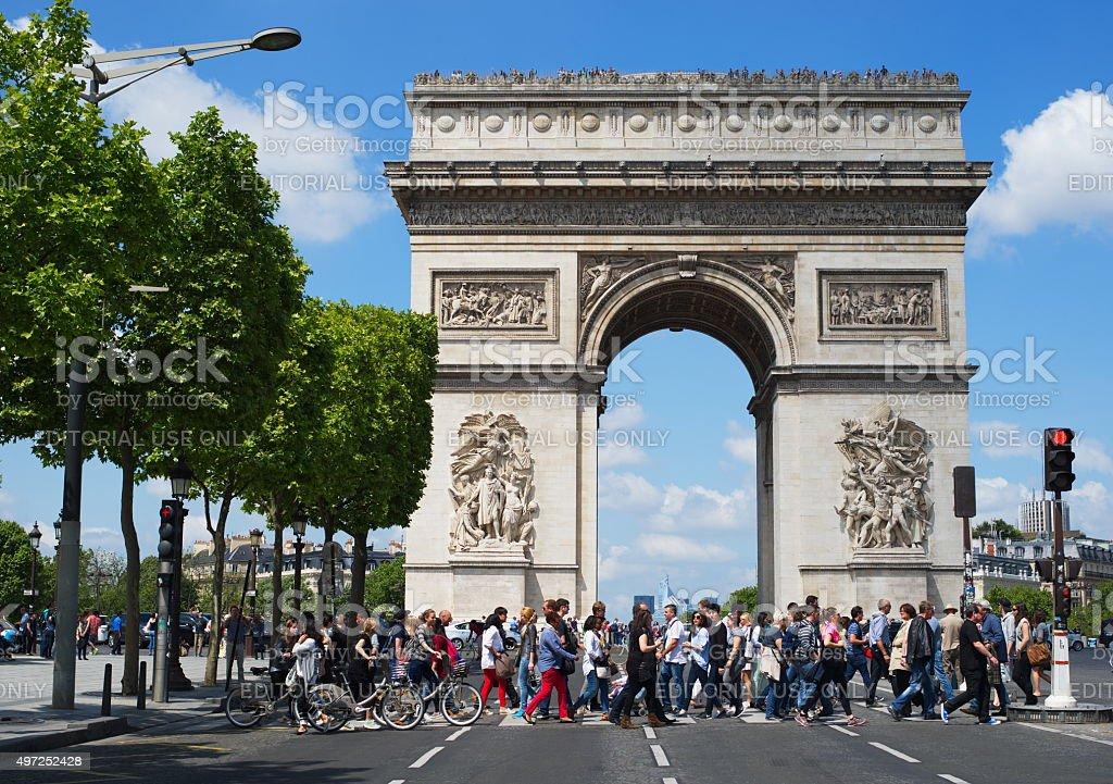 Triumph Arc paris stock photo