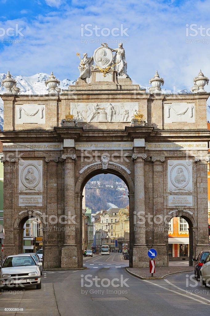 Łuku Triumph-Innsbruck Austria zbiór zdjęć royalty-free