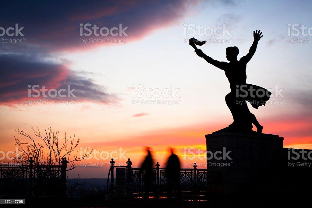 triumph statue royalty-free stock photo