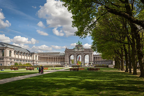Triumphal Arch, Brussels , Belgium stock photo