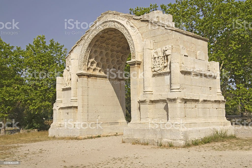 Triumphal arch in Glanum. royalty-free stock photo