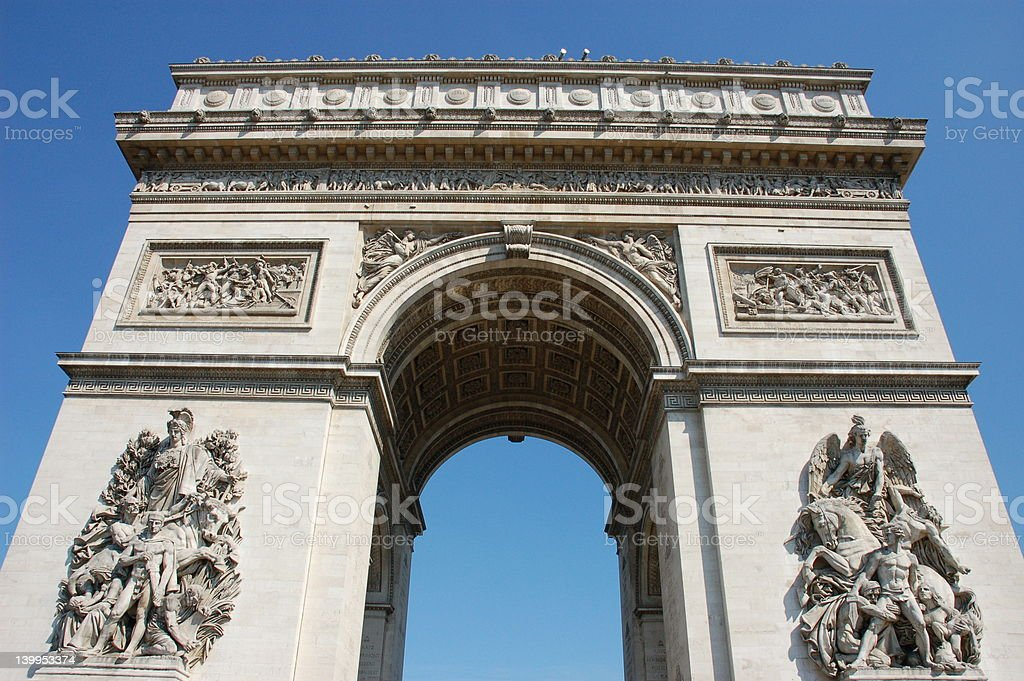 Triumphal Arch in Paris royalty-free stock photo
