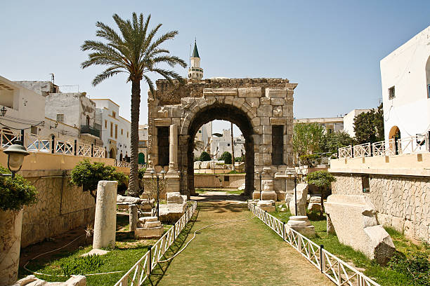Triumphal arch in Tripoli LIbya stock photo