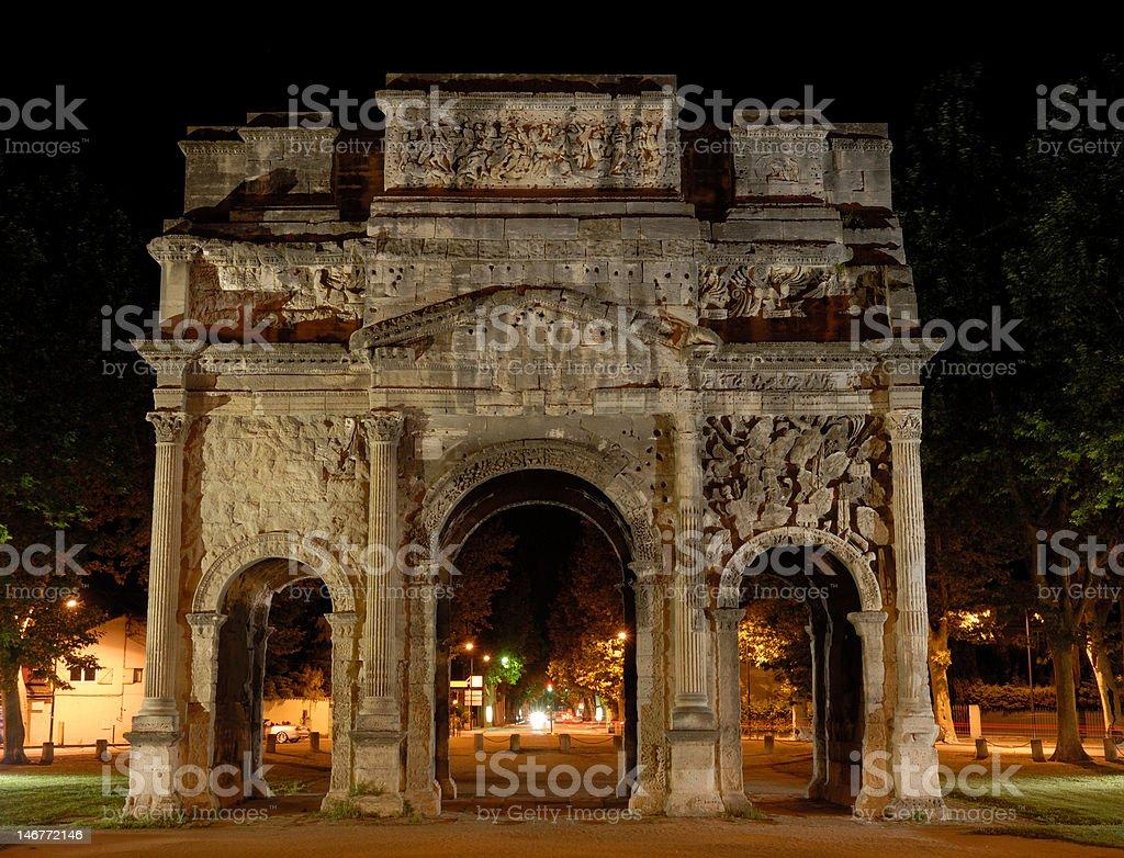 Triumphal Arch of Orange, France stock photo