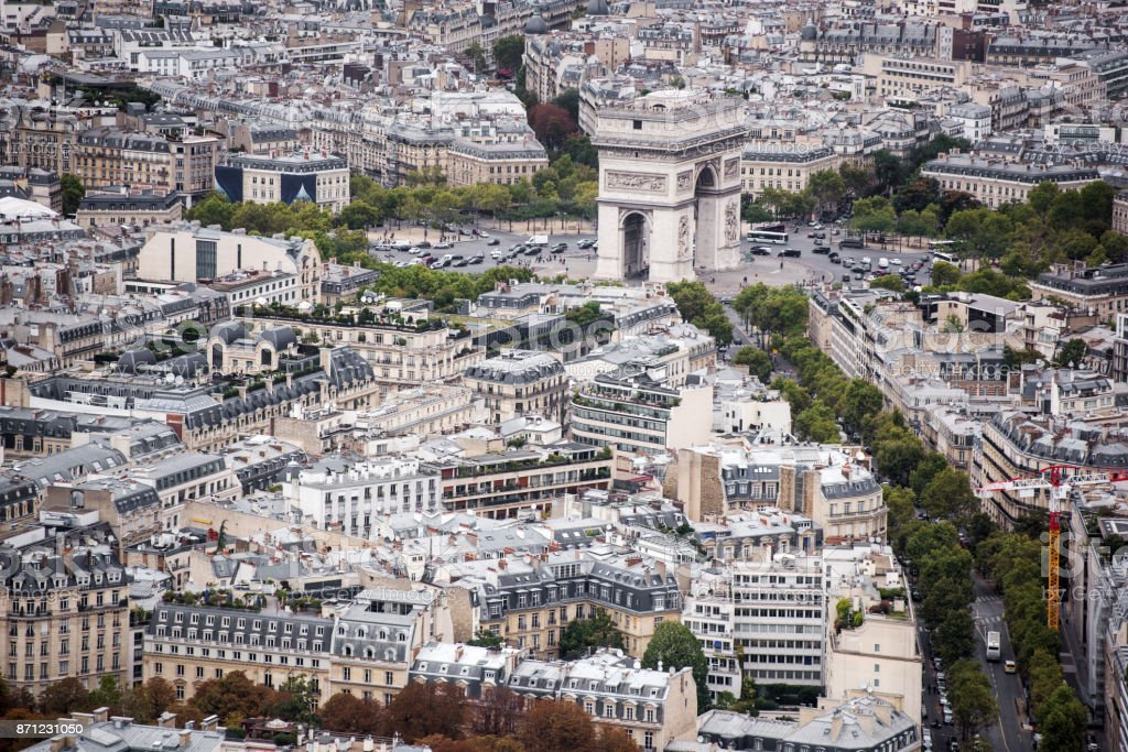 Triumphal Arch of the Star, Paris,France stock photo