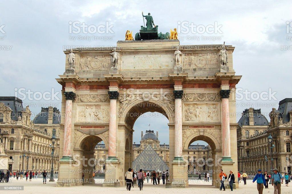 Triumphal Arch - Paris stock photo