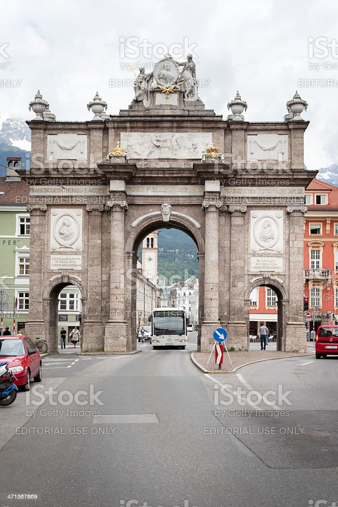 Triumphpforte, Innsbruck, Tirol royalty-free stock photo