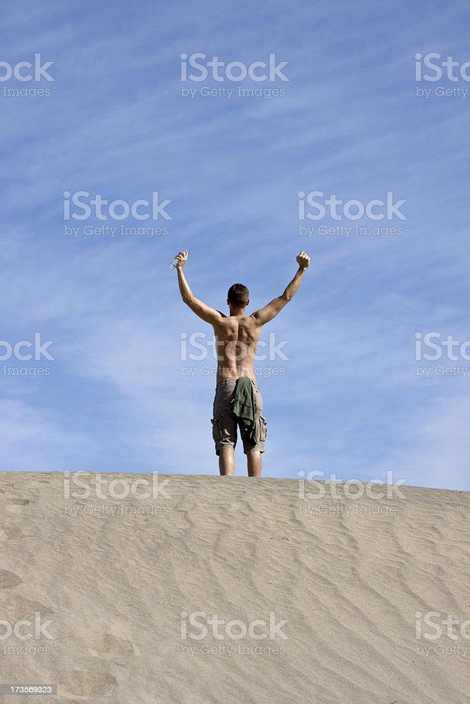 Triumphant Man royalty-free stock photo