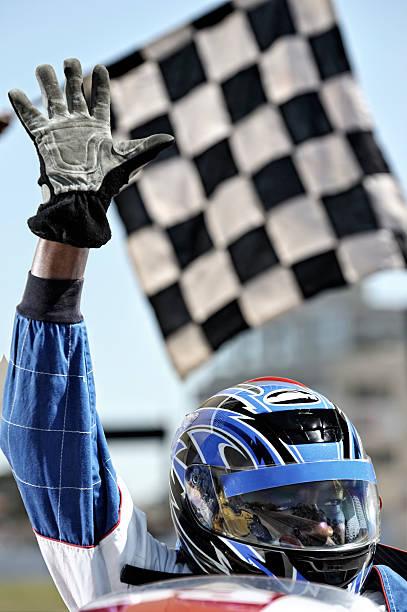 Triumphierend racing driver Wellen in crowd – Foto