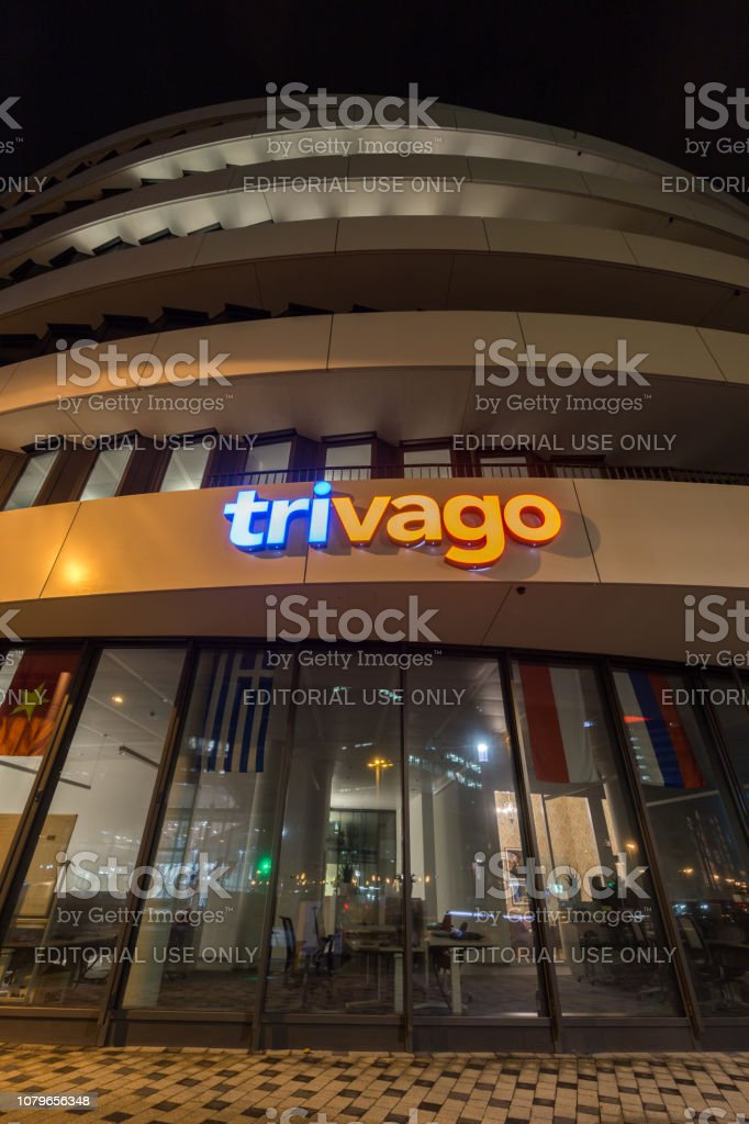 Trivago Headquarters in Düsseldorf stock photo