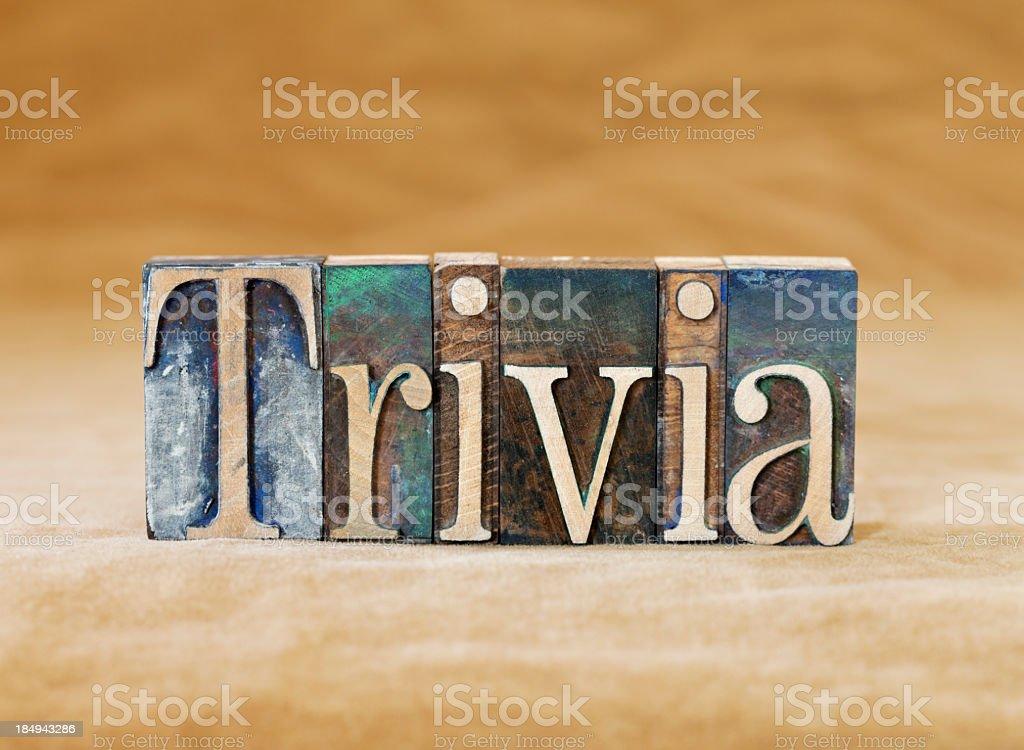 Trivia royalty-free stock photo