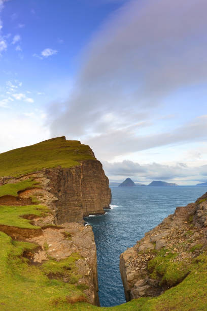 trælanipa - imagean faroe islands stock photos and pictures