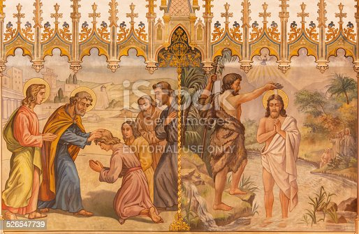 istock Trnava - Baptism of Christ and the Apostles at confirmation. 526547739