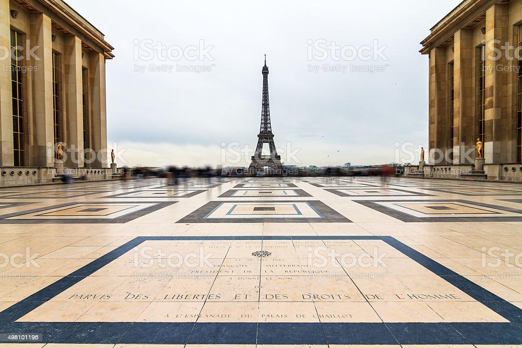 Trocadero Eiffel stock photo