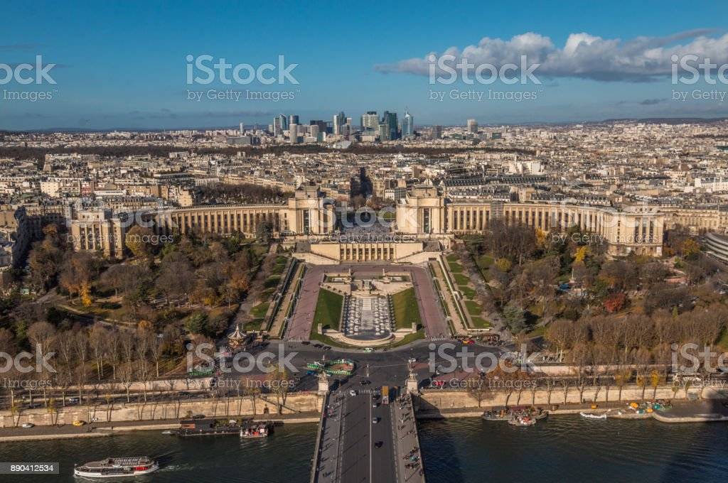 Trocadero Paris stock photo
